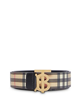 Burberry - Vintage Check Monogram E-Canvas Belt