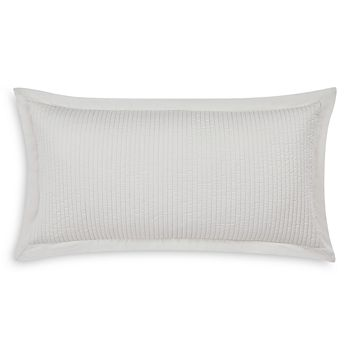 "Charisma - Tristano Embroidered Pinstripe Decorative Pillow, 16"" x 32"""