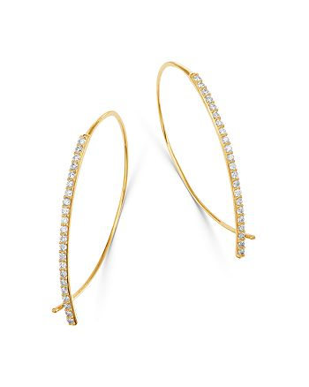 Bloomingdale's - Micro-Pave Diamond Threader Earrings in 14K Yellow Gold, 0.50 ct. t.w. - 100% Exclusive
