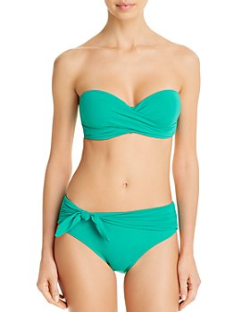 kate spade new york - Twist Bandeau Bikini Top & Tie-Waist Bikini Bottom