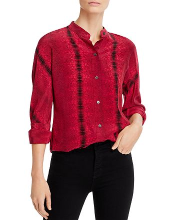 Equipment - Essential Floral-Silk Shirt