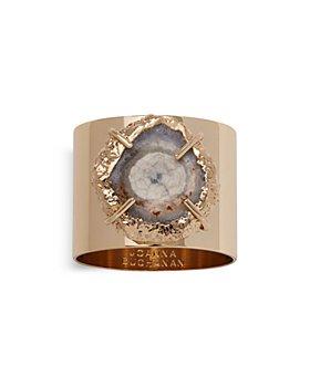 Joanna Buchanan - Quartz Crystal Napkin Rings, Set of 2