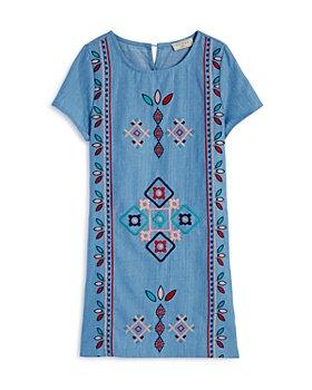 Hayden Los Angeles - Girls' Cotton Embroidered Dress - Big Kid