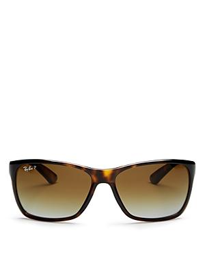 Ray-Ban Men's Polarized Square Sunglasses, 61mm
