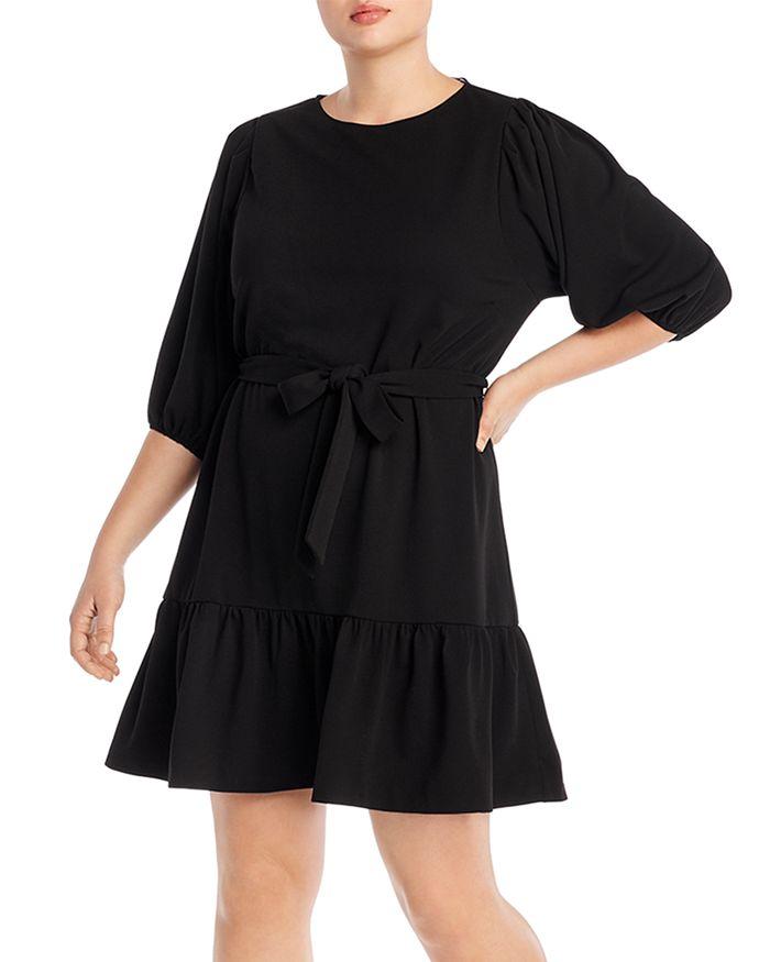 AQUA Curve - Puff-Sleeve Dress - 100% Exclusive