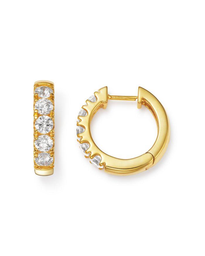 Bloomingdale's Diamond Huggie Hoop Earrings in 14K Yellow Gold, 2 ct. t.w. - 100% Exclusive  | Bloomingdale's