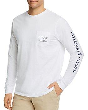 Vineyard Vines - Logo-Print Long-Sleeve Cotton Pocket Tee