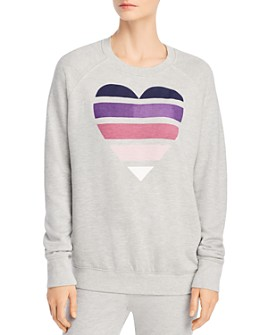Sundry - Multicolored Heart Graphic Sweatshirt - 100% Exclusive