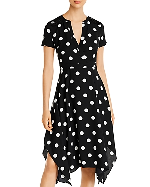 Karl Lagerfeld Paris Polka-Dot Midi Dress-Women