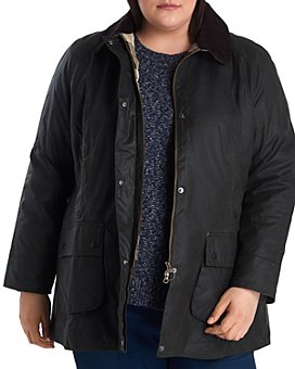Barbour - Beadnell Waxed Cotton Corduroy-Collar Coat