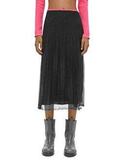 Helmut Lang - Pleated Tulle Skirt