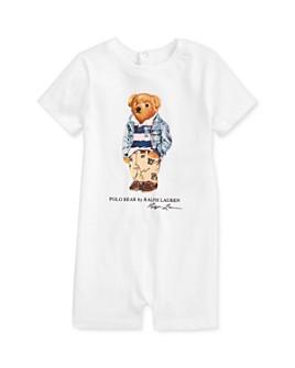 Ralph Lauren - Boys' Cotton Polo Bear One-Piece - Baby