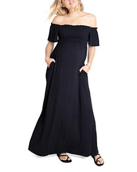 Ingrid & Isabel - Off-the-Shoulder Maxi Maternity Dress