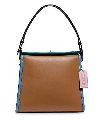 COACH - 1941 Color-Block Turnlock Mini Leather Shoulder Bag