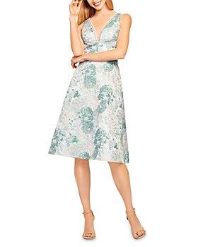Aidan Mattox - Fit-and-Flare Jacquard Dress