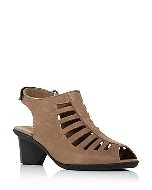 Women's Enexor Cutout Slingback Mid-Heel Sandals