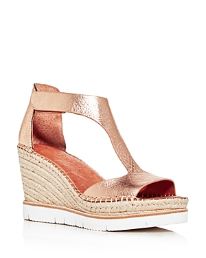 Gentle Souls by Kenneth Cole Women's Elyssa Easy T-Strap Espadrille Wedge Sandals