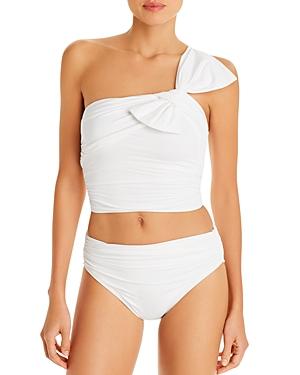 Carmen Marc Valvo Asymmetric Underwire Bandeau Bikini Top