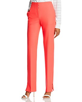 rag & bone - Jess Twill High-Waisted Straight-Leg Pants