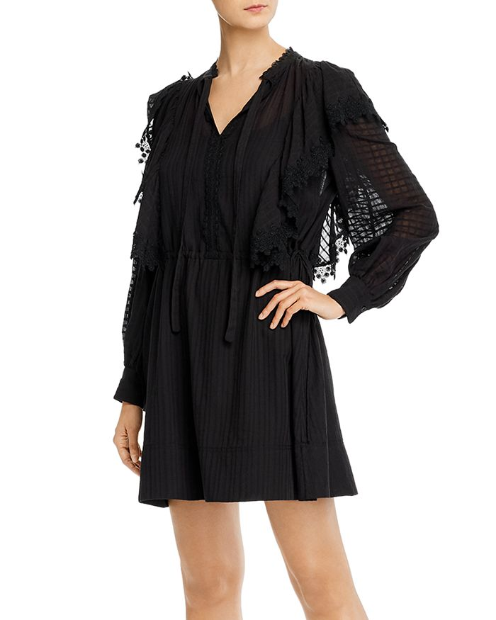 See by Chloé - Lace-Trim Cotton Mini Dress