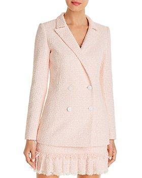 PAULE KA - Double-Breasted Tweed Blazer