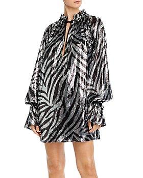 Redemption - Pirata Sequin Zebra Print Mini Dress