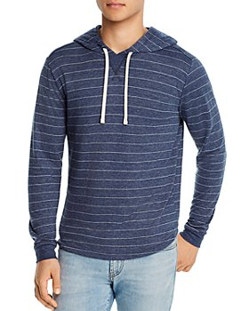Marine Layer - Cotton-Blend Stripe Double-Knit Hoodie