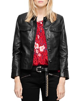 Zadig & Voltaire - Liam Leather Button-Up Jacket