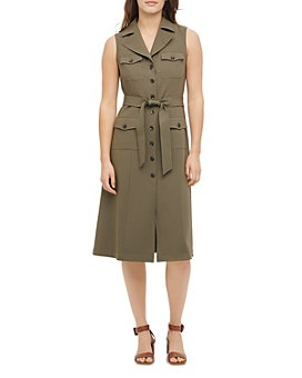 Calvin Klein - Cargo Button-Front Midi Dress