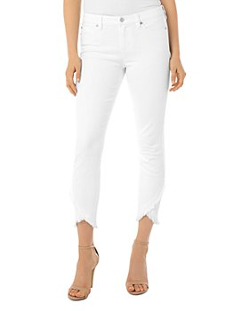 Liverpool Los Angeles - Abby Ripped-Hem Jeans in Bright White