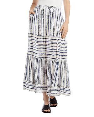 Karen Kane Tie-Dyed Tiered Skirt
