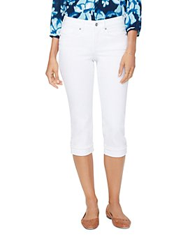 NYDJ - Petites Marilyn Cropped Jeans in Optic White