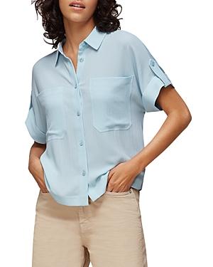 Whistles Textured Short-Sleeve Blouse