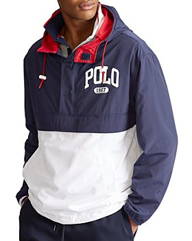 Polo Ralph Lauren - Color-Block Half-Zip Graphic Logo Jacket