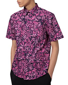 HUGO - Ermino Cotton Floral-Print Slim Fit Button-Down Shirt