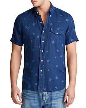 Polo Ralph Lauren - Star Classic Fit Linen Short Sleeve Button-Down Shirt