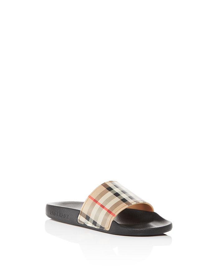 Burberry - Unisex Mini Furley Check Slide Sandals - Toddler, Little Kid