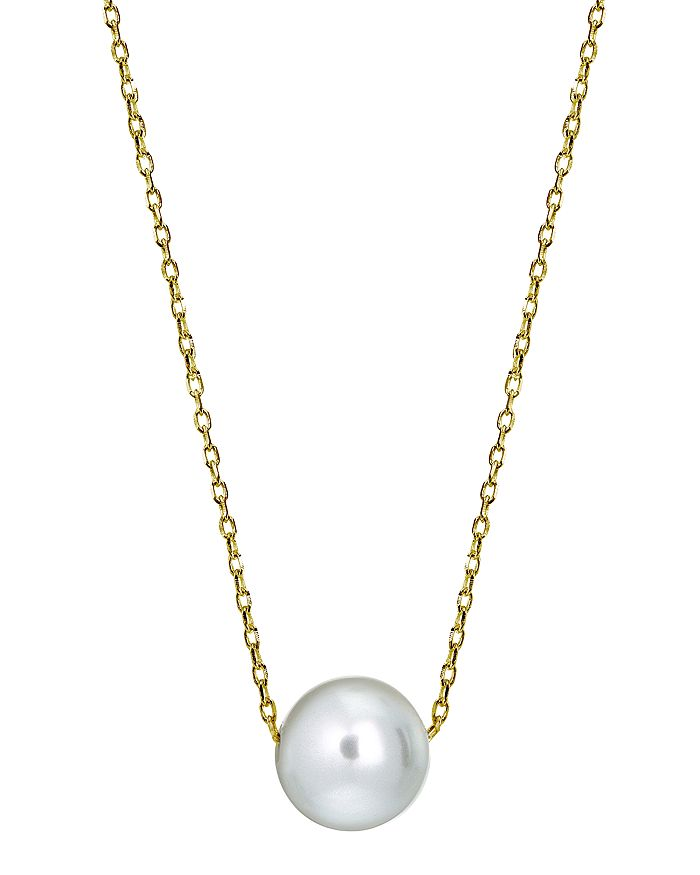 """AQUA - Cultured Freshwater Pearl Necklace in Sterling Silver or 18K Gold-Plated Sterling Silver, 15.5""""-17.5"""" - 100% Exclusive"""