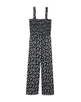 AQUA - Girls' Floral-Print Jumpsuit, Big Kid - 100% Exclusive