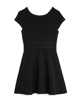 AQUA - Girls' Fit-And-Flare Cap-Sleeve Dress, Big Kid - 100% Exclusive
