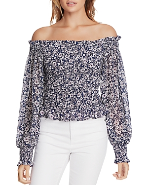 1.state WILDFLOWER BOUQUET OFF-THE-SHOULDER TOP