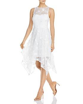 Adrianna Papell - Lace Handkerchief-Hem Dress