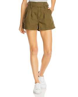 Current/Elliott - The Baro Pleated Belted Shorts