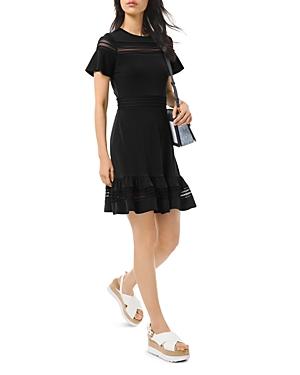 Michael Michael Kors Mesh-Inset Printed Dress-Women