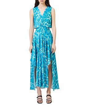 Maje - Cutout-Waist Maxi Dress