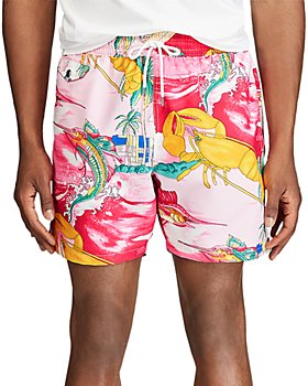 Polo Ralph Lauren - Nautical-Print Swim Trunks