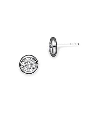 Roberto Coin 18K White Gold Bezel Diamond Stud Earrings, 0.50 ct. t.w.