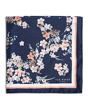 Ted Baker - Silk Floral Cluster Pocket Square