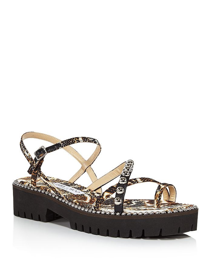 Jimmy Choo Platforms WOMEN'S DESI FLAT KVO SANDALS