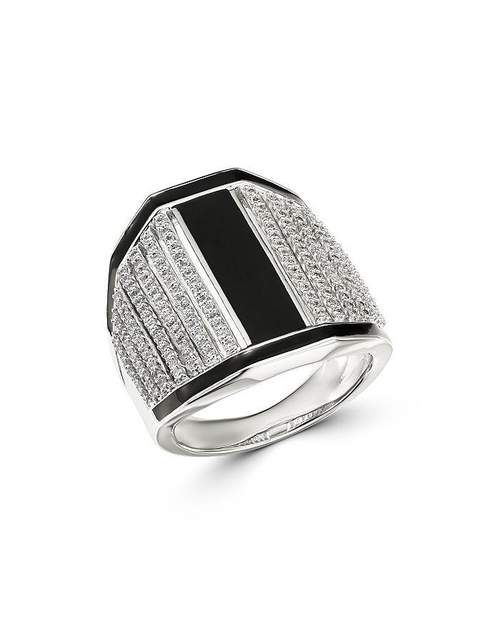 Bloomingdale's - Black Enamel & Diamond Statement Ring in 14K White Gold, 0.75 ct. t.w. - 100% Exclusive
